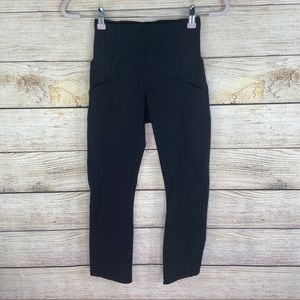 Lululemon Womens Size 4 high Waisted Black Capris